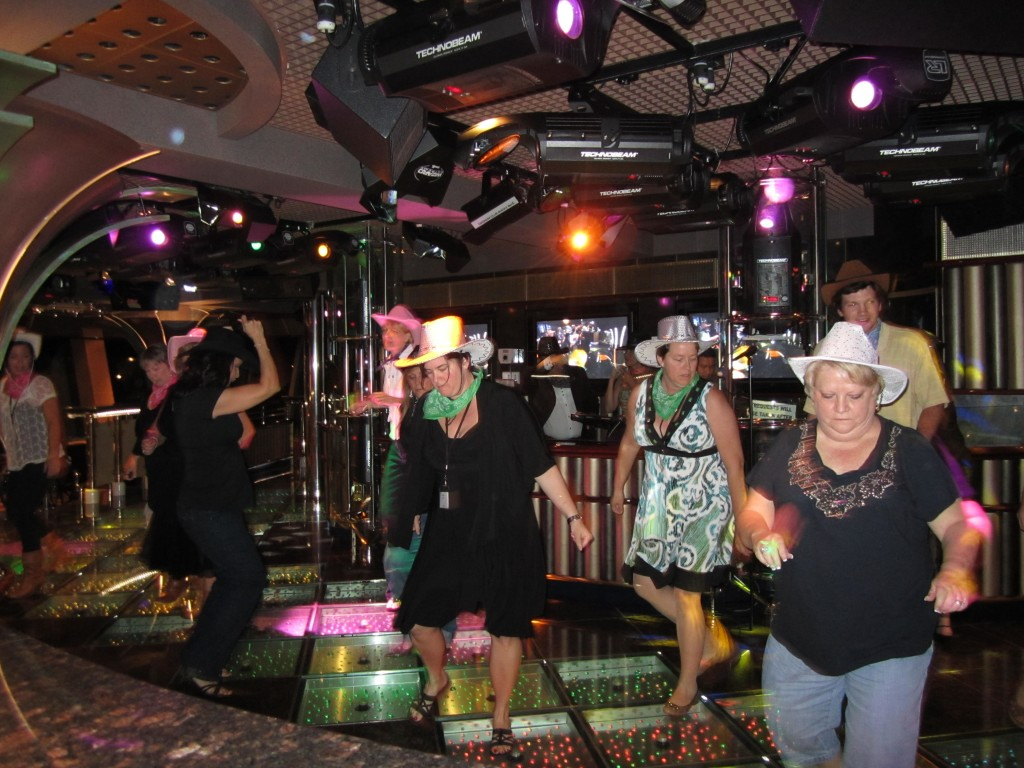Exclusive country line dance event.