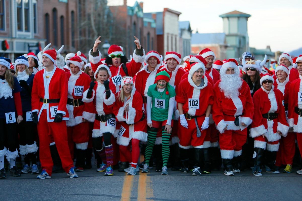 Olympic Hopefuls And Stampeding Santas Compete In Colorado Gdv Blog