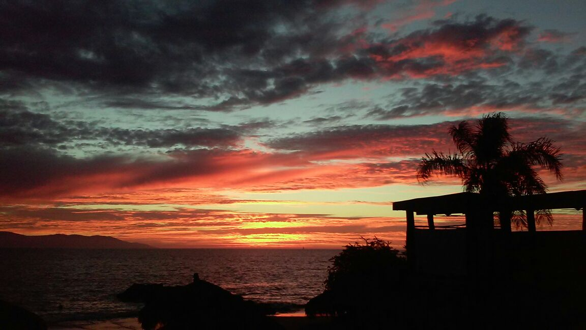 'Dining at the Bakel Resturant, overlooking gorgeous Banderas Bay, at the Mayan Palace Resort in Puerta Vallarta at sunset' - Member John S.