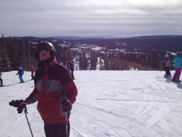Member skiing in Steamboat Springs, Colorado.